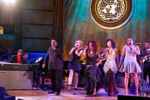 International Jazz Day 2012 at the United Nations Concert with Geoge Duke, Steveie Wonder, Herbie Hancock, Shankar Mondevan, Susan Tedeschi, Chaka Khan, Esperanza Spalding, Dee Dee Bridewater and Robert Cray.