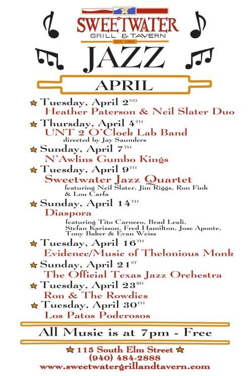 12x18 Jazz Poster - April, 2013-1