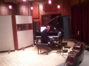 Addison Frei after recording session.