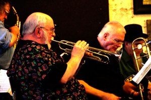 Capt. Dave and Mr. Joe (Pinson) lead the band in a selection of rousing New Orleans-style Jazz every First Tuesday at 8 p.m.