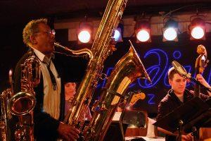 Anthony Braxton contrabass saxophone.