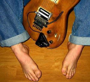 Jimi Tunnell always plays sans footwear.
