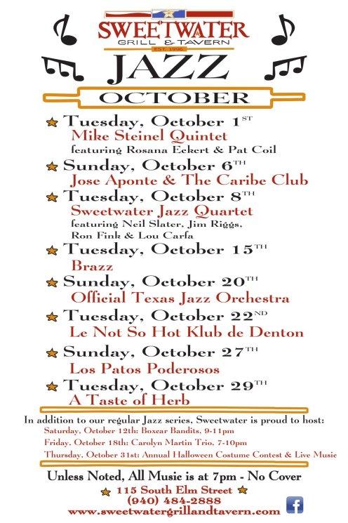 12x18 Jazz Poster - October 2013