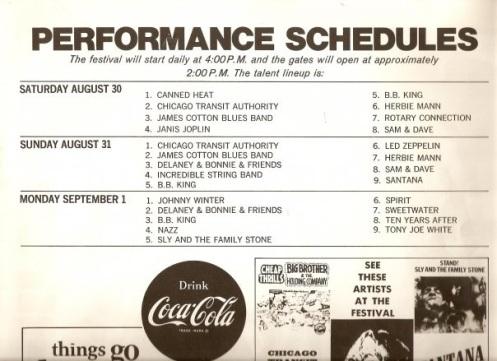 Texas International Pop Festival Original Promo Poster