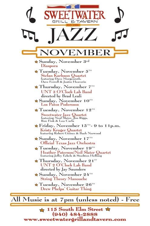 12x18 Jazz Poster -November 2013
