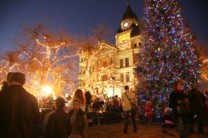 Denton Holiday Lighting of the Courthouse Square