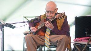 Jim Hall at the 2013 Newport Jazz Festivsal. Photo by Adam Kissick for NPR.