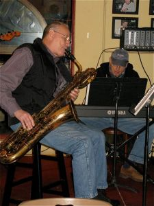 Jim Riggs, saxophone, and Neil Slater on keyboard.