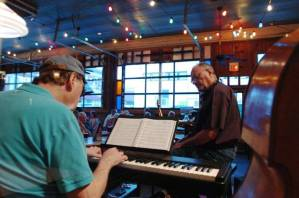 Neil Slater, keys and Jim Riggs at Sweetwater grill & Tavern, ca. 2011.