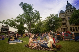 Twilight Tunes - on the Denton Courthouse lawn.. Every Thursday evening through July 4.