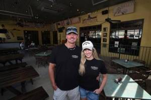 Randy and Ryann Reid in the re-vamped Sweetwater Grill & Tavern patio.