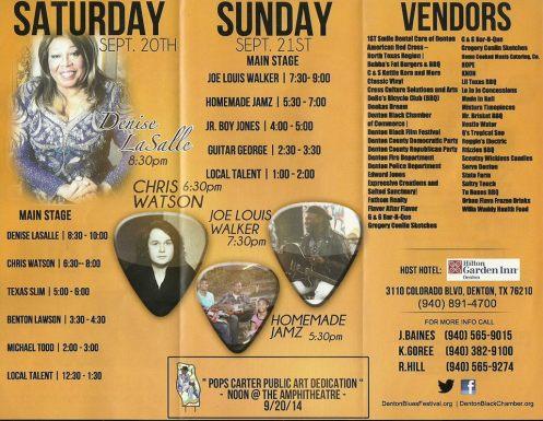 2014 Denton Blues Fest line-up