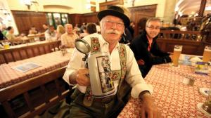 Oktoberfest in Munich - beer drinker.