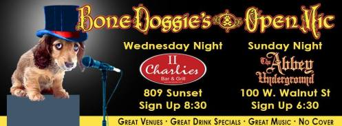 BoneDoggies open mic nights