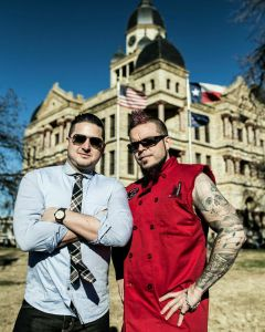 Courtesy of Marcus Junius Laws Midlake drummer McKenzie Smith, left, has been reppin' the 9-4-0 for years. Dallas chef Patrick Stark has made the north-on-35 jump to Denton and will join Smith in a new restaurant expected to open this summer.