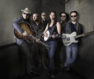 "The Lost Tapes ""band"" - Elvis Costello, Jim James, T. Bone Burnett, Rhiannon Giddens, Marcus Mumford and Taylor Goldsmith."