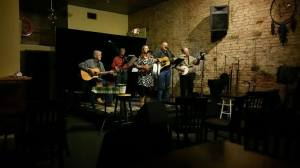 Olivia Justice Countryman, Randy Cummings, Dave Lewis, Roddy Fuller, John Tompkins - A progressive acoustic group that adds their own musicality to traditional songs ranging from bluegrass to gospel to the Beatles.