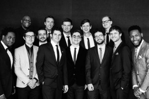 Snarky Puppy at the 2014 Grammy Awards. Bandleader and bassist Michael League is second from right. Christian Thomas Hynes