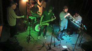 Keith Karns Messengers Quintet, a tribute to Art Blakey and The Jazz Messengers at Andy's Bar.