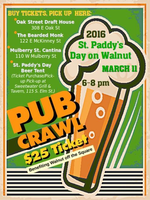2016 Pub Crawl Poster
